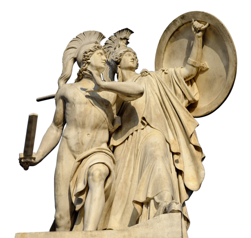 monument protected greek gods figures
