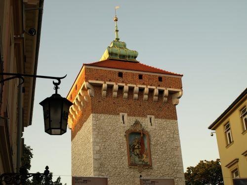 paminklas,senamiestis,architektūra,kraków,Lenkija,Senamiestis,malopolska,florio vartai