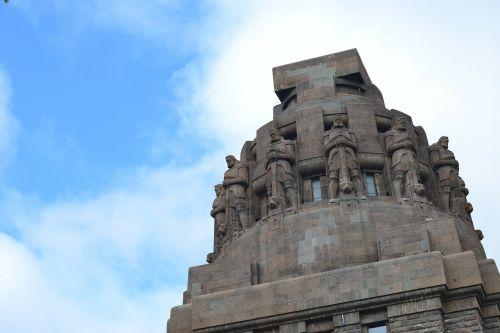 monument leipzig blue