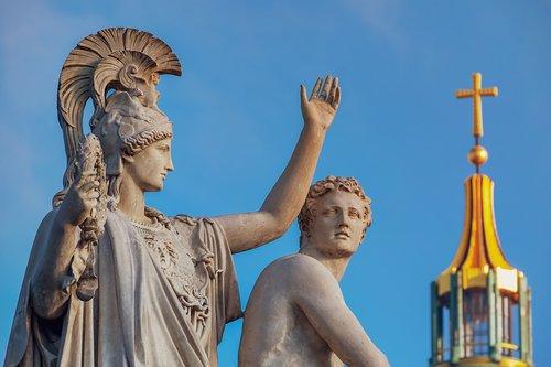 monument  sculpture  greek gods figures