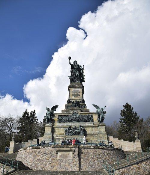 monument  rhine  niederwald