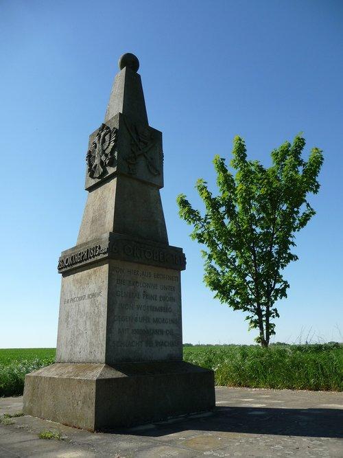 monument  völkerschlachtdenkmal  wachau