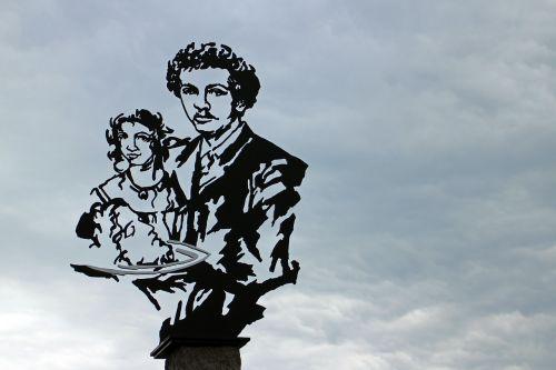 monument silhouette richard strauss