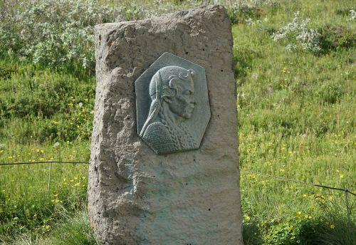 monument gullfoss sigríður by brattholt stone