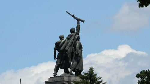 monument of the soviet army sofia bulgaria