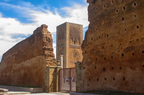 monument to the tower of hassan city of rabat in morocco travel