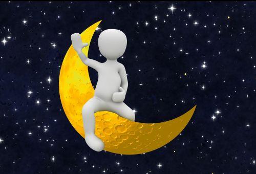 moon crescent moon person