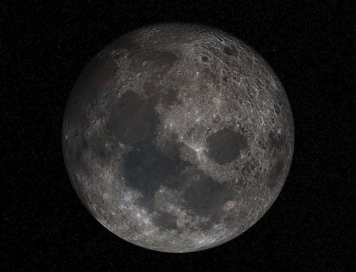 moon full moon crater