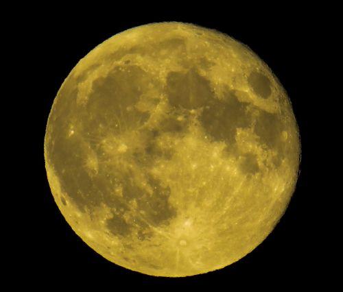 moon full moon yellow