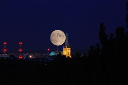 moon view panorama