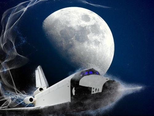moon space shuttle