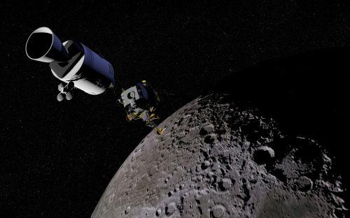 moon satellite space capsule