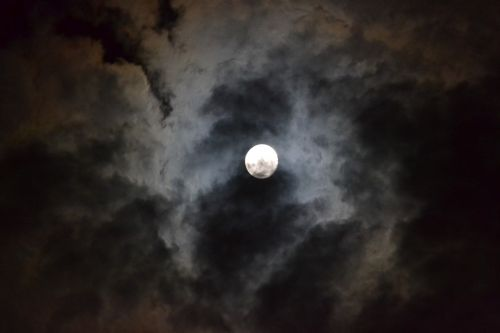 moon night darkness
