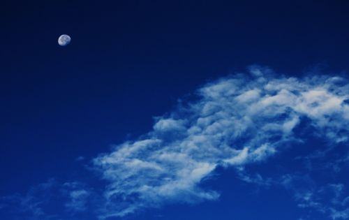 moon clouds sky