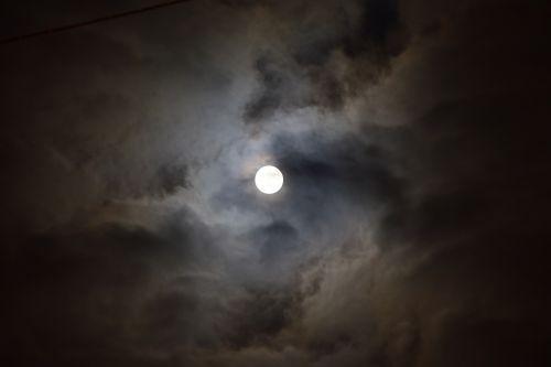 moon full moon midnight