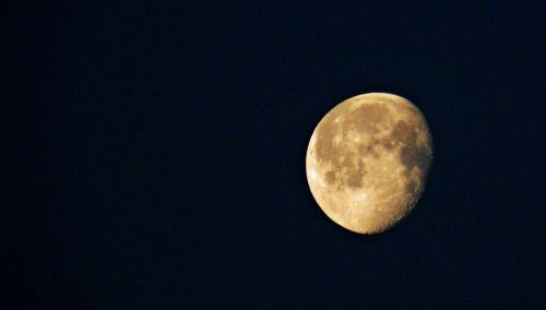 moon decreasing moon luna