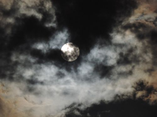 moon clouds sky