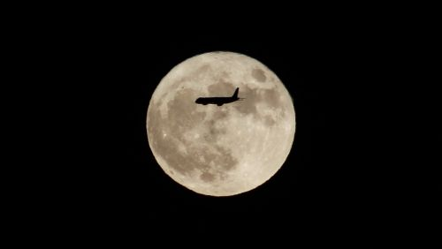 moon aircraft silhouette