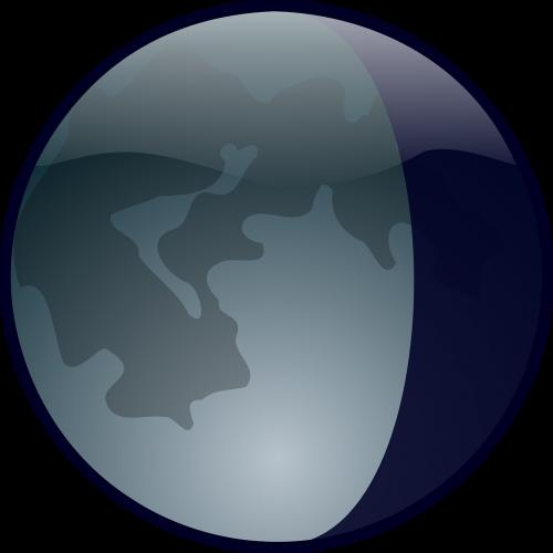 moon earth view