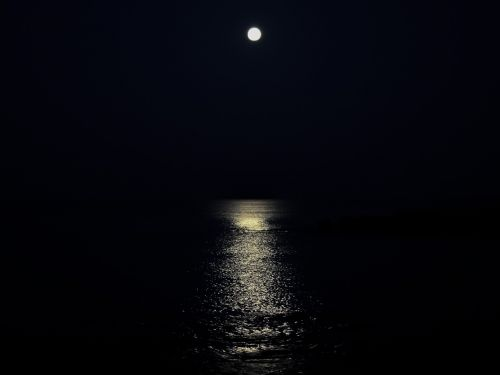 moon moonlight sea