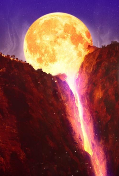 moon mountains lava