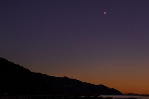 moon dusk mountain