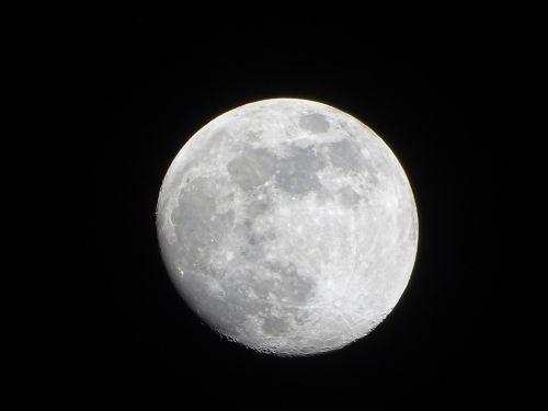 moon astronomy evening