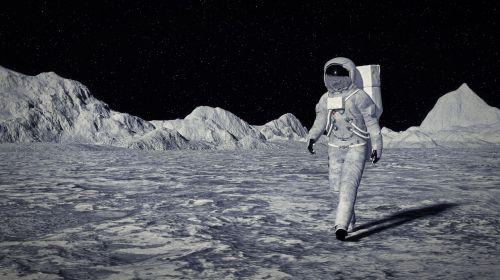 moon cosmos cosmonaut