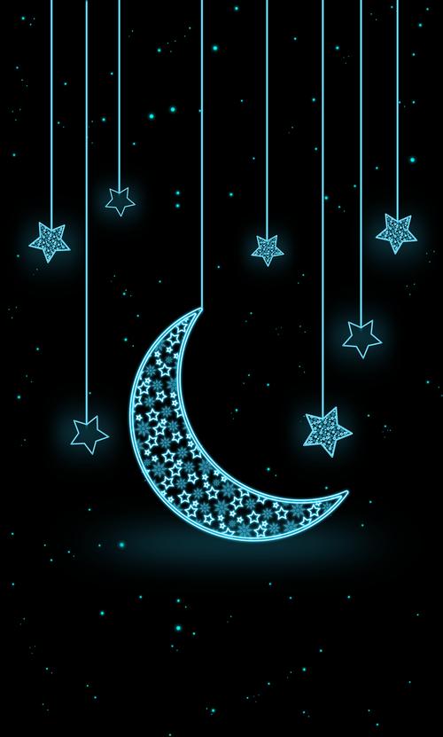 moon  star  neon
