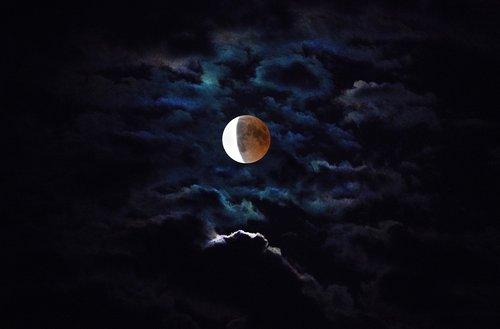 moon  blood moon  moonlight