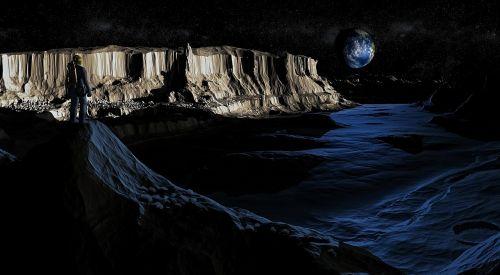 moon lunar landscape landscape