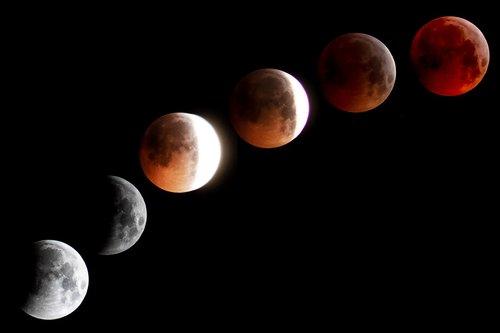 moon  blood moon  super moon