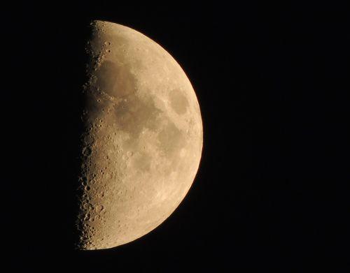 moon half moon lunar