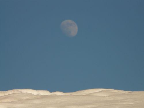 moon snow wintry