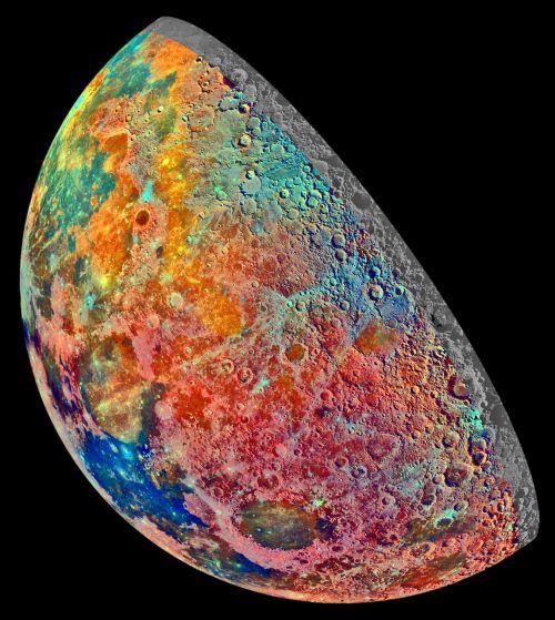 moon increasingly false color
