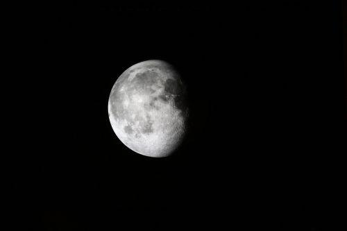 moon three fourth moonlight