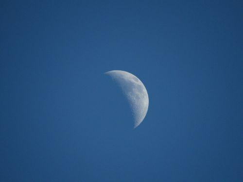 moon blue sky quarter