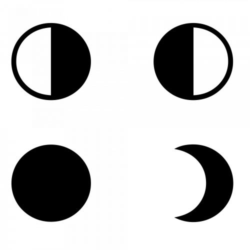 Moon Phases Silhouette