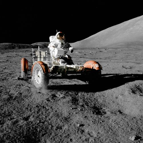moon vehicle astronaut space travel