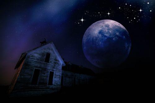moonlight night home