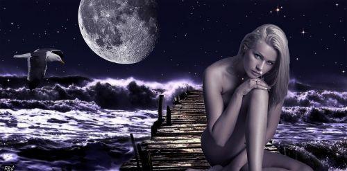 moonlight jetty fantasy girl windy night