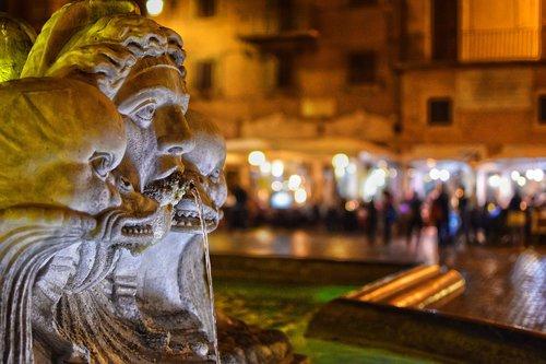 moor fountain  rome  fontana del moro