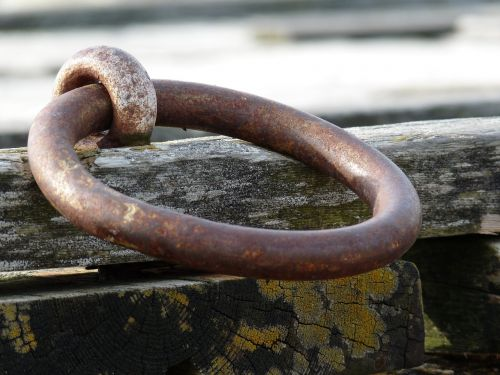 mooring ring ironwork quayside