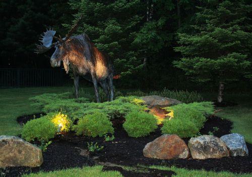 gyvūnai, architektūra, iliustracija, kraštovaizdis, šviesa, efektai, objektai, briedis, briedis