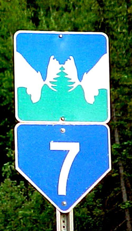 kelias, ženklai, Jukonas, briedis, Kanada, briedis kelio ženklas yukon bc