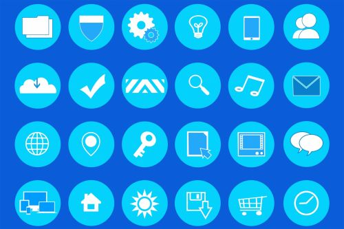 Mopdern Flat Icon Set Teal And Blue
