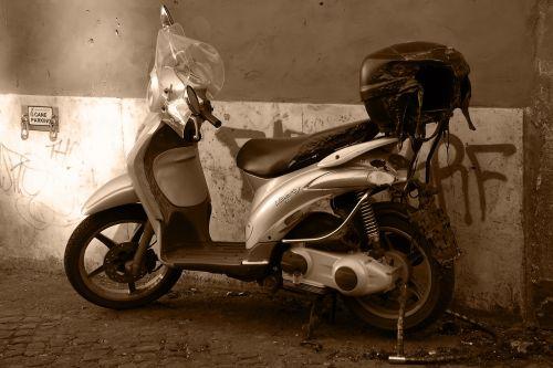 moped burned rome