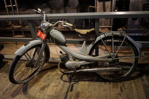 moped nsu quickli two wheeled vehicle
