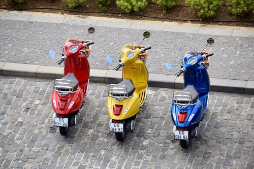 mopeds  scooters  vespa