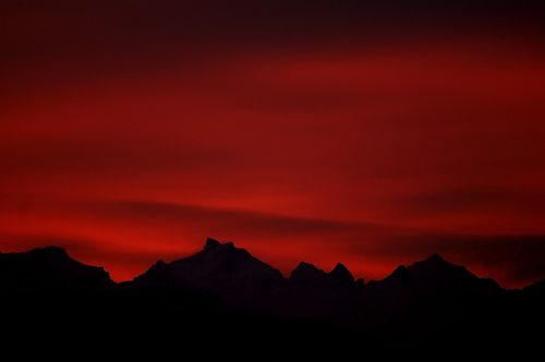 morgenrot red sky